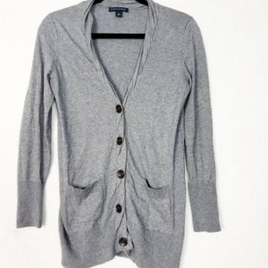 Banana Republic Grey Button Up Cardigan Size Med
